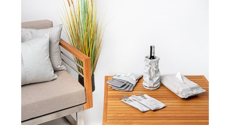 Zestaw do dekoracji stołu - Aluminium